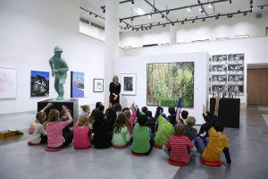 Children learning at art gallery